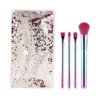 4pc Ombre Glitter Brush Set