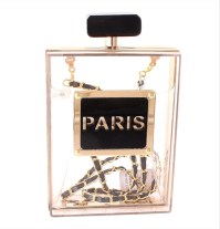 Paris Perfume Clutch Purse